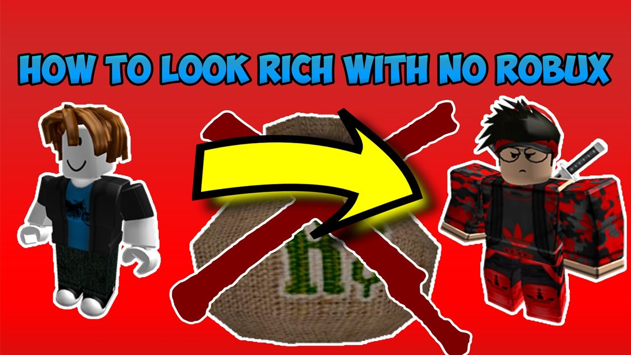 How to look cool and rich on roblox for How to get a rich look