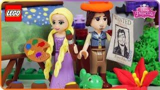 ♥ LEGO Disney Princess Rapunzel Charmed Adventures (Painting Wall Mural & Helping Flynn)