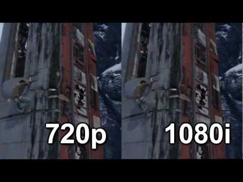 720p vs 1080i Comparison (Uncharted 2)