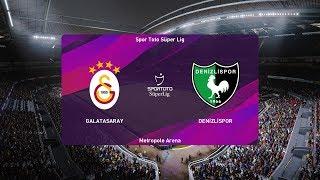 PES 2020   Galatasaray vs Denizlispor - Super Lig   19/01/2020   1080p 60FPS