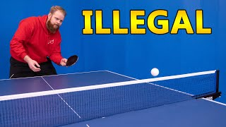 World's Most Ridiculous Ping Pong Serves