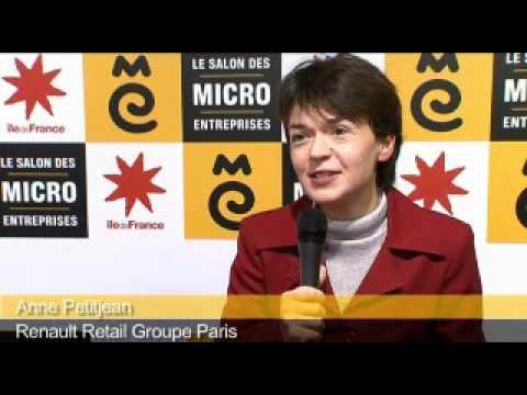 Anne petitjean renault retail groupe paris au salon des micro entreprises youtube - Salon des micro entreprise ...