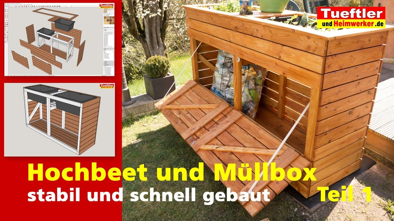 Mülleimer Unterstand Selber Bauen Build A Raised Bed With A Combined Garbage Box Yourself Diy Project Part 1