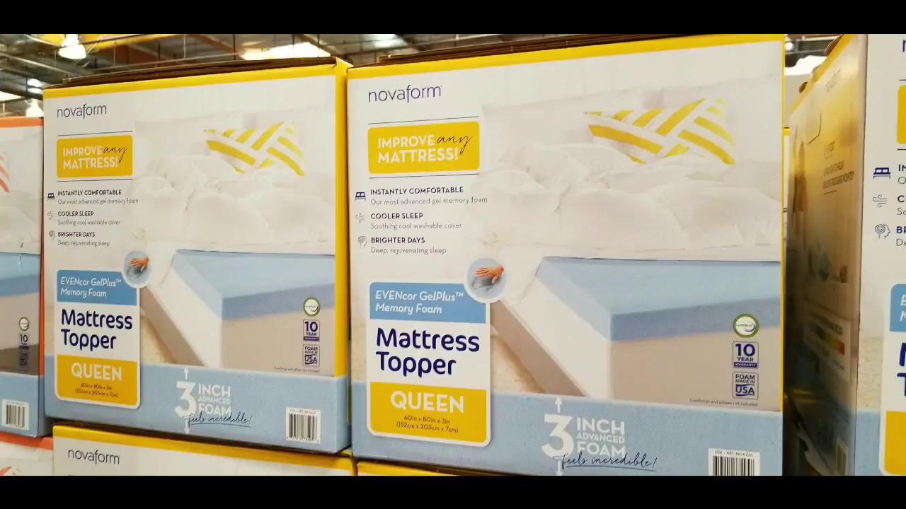 Costco Novaform Evencor Memory Foam Mattress Topper Queen King