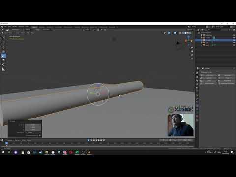 Первый урок по скелетной 3d анимации в Blender 2.82А