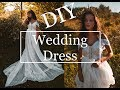 DIY!! BOHO Wedding Dress! made from thrifted curtains! under $15