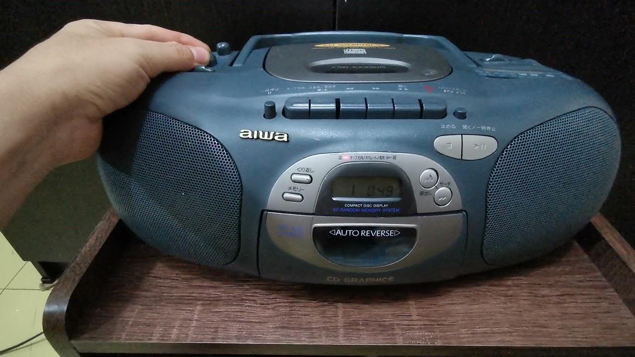 AIWA CSD-EX330G [220V] เครื่องเล่นเทป+CD+Line in[Mic][ต่อโทรศัพท์ได้]