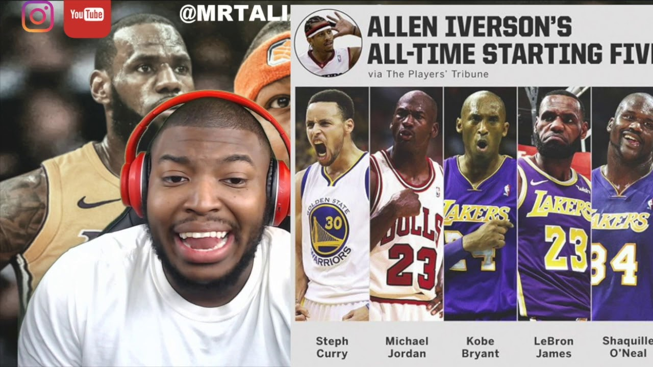 3d42ac644f1 Allen Iverson Give Hims All Time NBA Starting Five (No Kevin Durant Or  Magic Johnson)