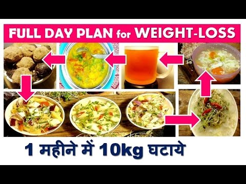 Full Day Plan For Weight Loss 1 मह न म 10kg घट य