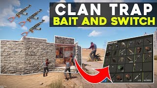RUST | TRAPPING a CLAN MEMBER turns into a BAIT and SWITCH - Electric Trap Base Gameplay
