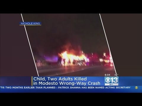 Toddler, Two Adults Killed In Modesto Wrong-Way Crash