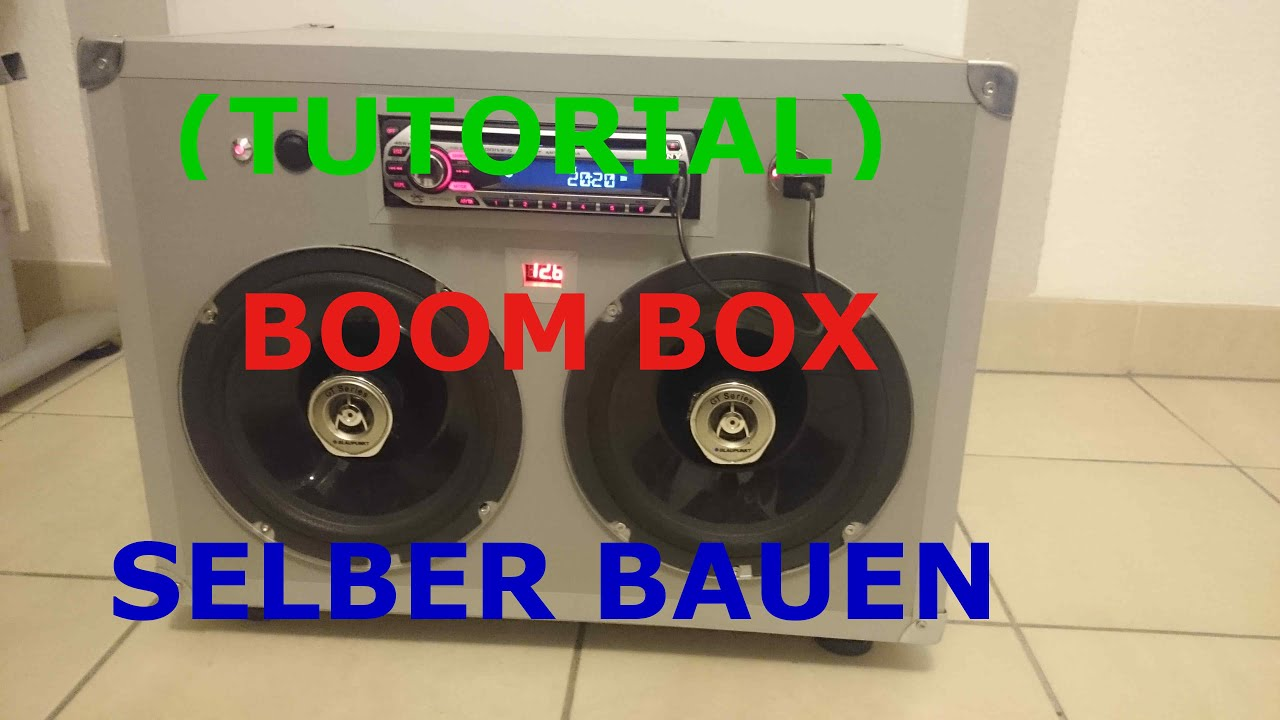 tutorial) portable party boombox selber bauen - youtube