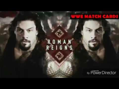 WWE TLC 2016 Edited Match Card/Roman Reigns vs Rusev