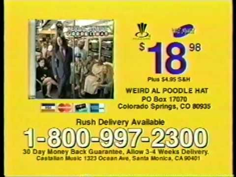 Poodle Hat TV Commercial 2003 Weird Al Yankovic