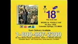 Poodle Hat Tv Commercial (2003) Weird Al Yankovic