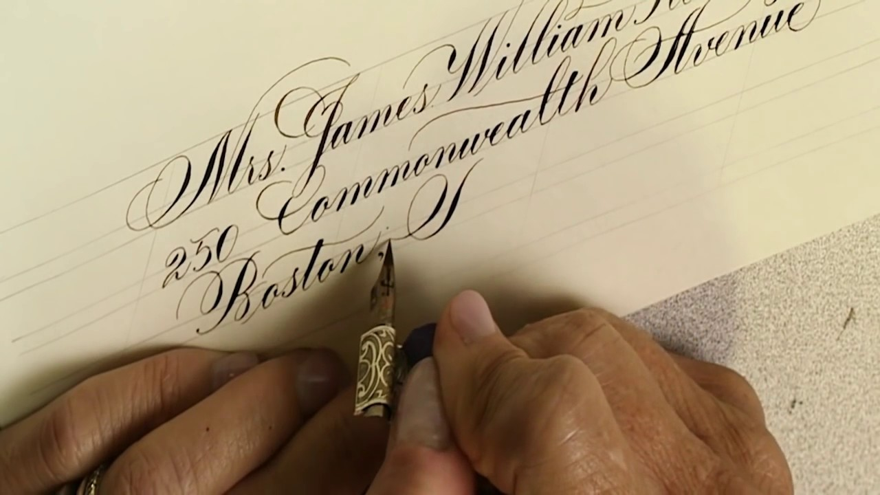 envelope calligraphy copperplate modern script by suzanne