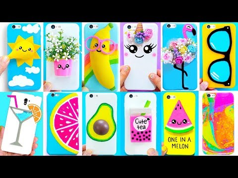 20 DIY PHONE CASES (Summer-inspired) | Easy & Cute Phone Projects