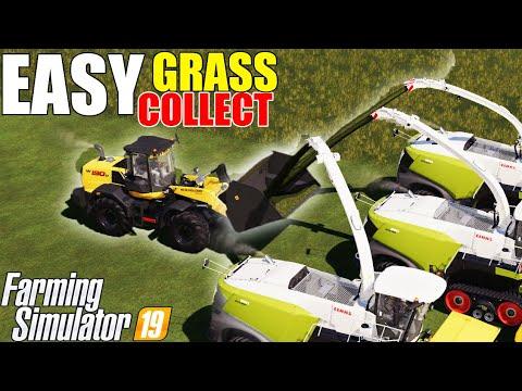 Farming Simulator 19 EASY GRASS COLLECT :)) |