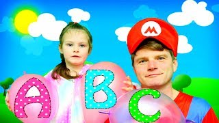 ABC Song with Balloons | KybiBybi Nursery Rhymes & Kids Songs