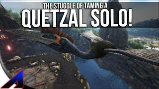 The struggle of taming QUETZAL SOLO! | Solo Official PvP Servers ARK: Survival Evolved | Ep 66