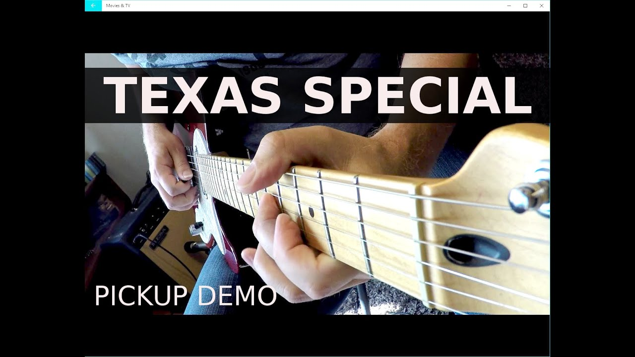 Fender Telecaster Texas Special Pickup Demo Youtube Strat Pickups Wiring Diagram
