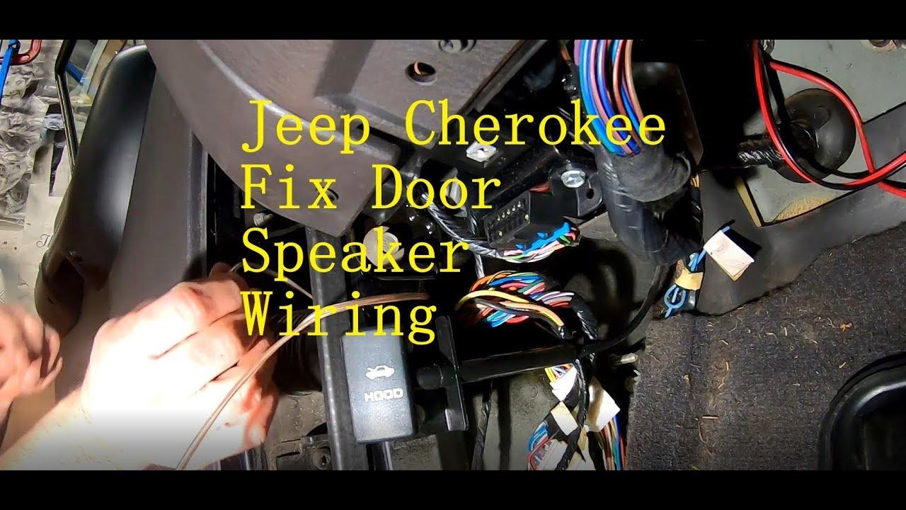 Jeep Cherokee XJ Drivers Door Speaker Wiring Fix - YouTubeYouTube