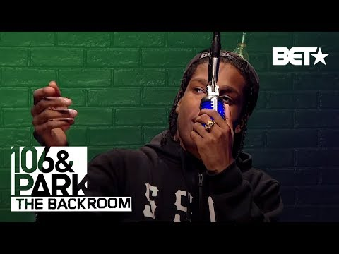 ASAP Rocky Freestyle In BET's The Backroom!