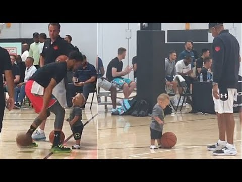 Stephen Curry Gets His Son Ready For The NBA With Help From Dell Curry!