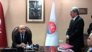 Maliye Bakanı Mehmet Şimşek'ten Başkan Vergili'ye Ziyaret