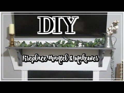 DIY FIREPLACE MANTEL | DIY FARMHOUSE MANTEL | THE WELDERS WIFE