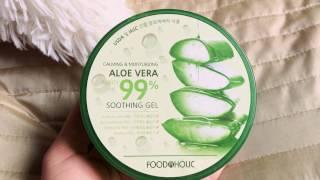 Aloe Vera soothing gel FOODAHOLIC/ Алое-вера гель Корея