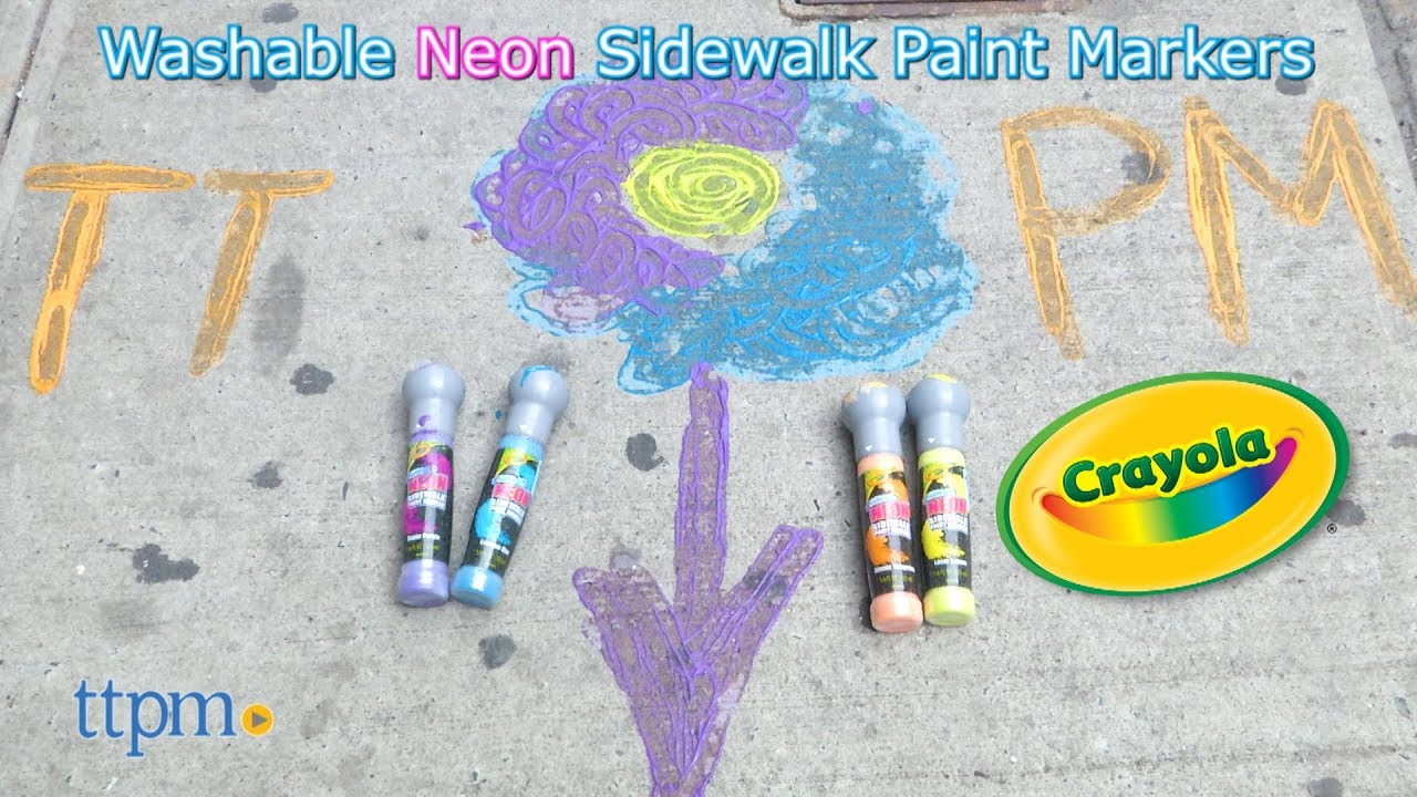 Crayola Washable Neon Sidewalk Paint Marker From Crayola