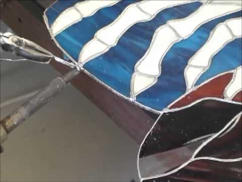 How To Repair Cracked Or Broken Stained Glass Youtube