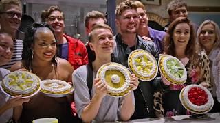 Joe Sugg Welcomes Friends To Waitress London