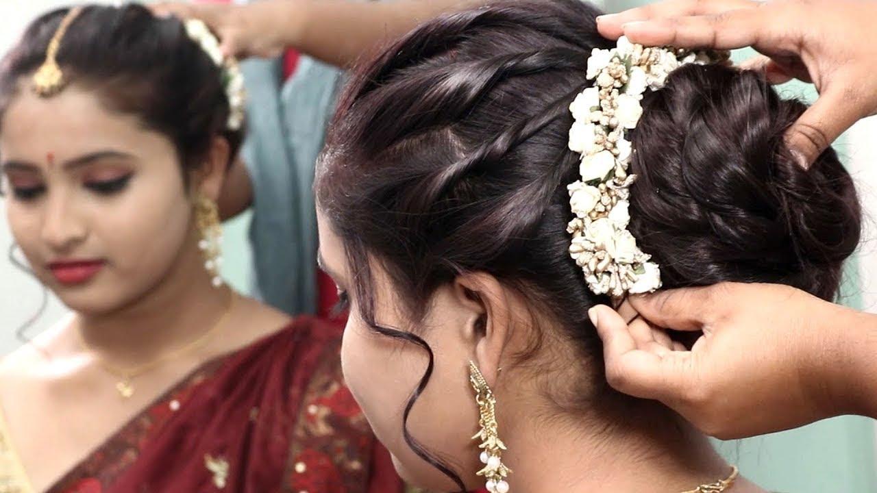 Wedding Coiffure Concepts For Mehndi Sangeet Wedding Reception Hairstyle Ideas Popular