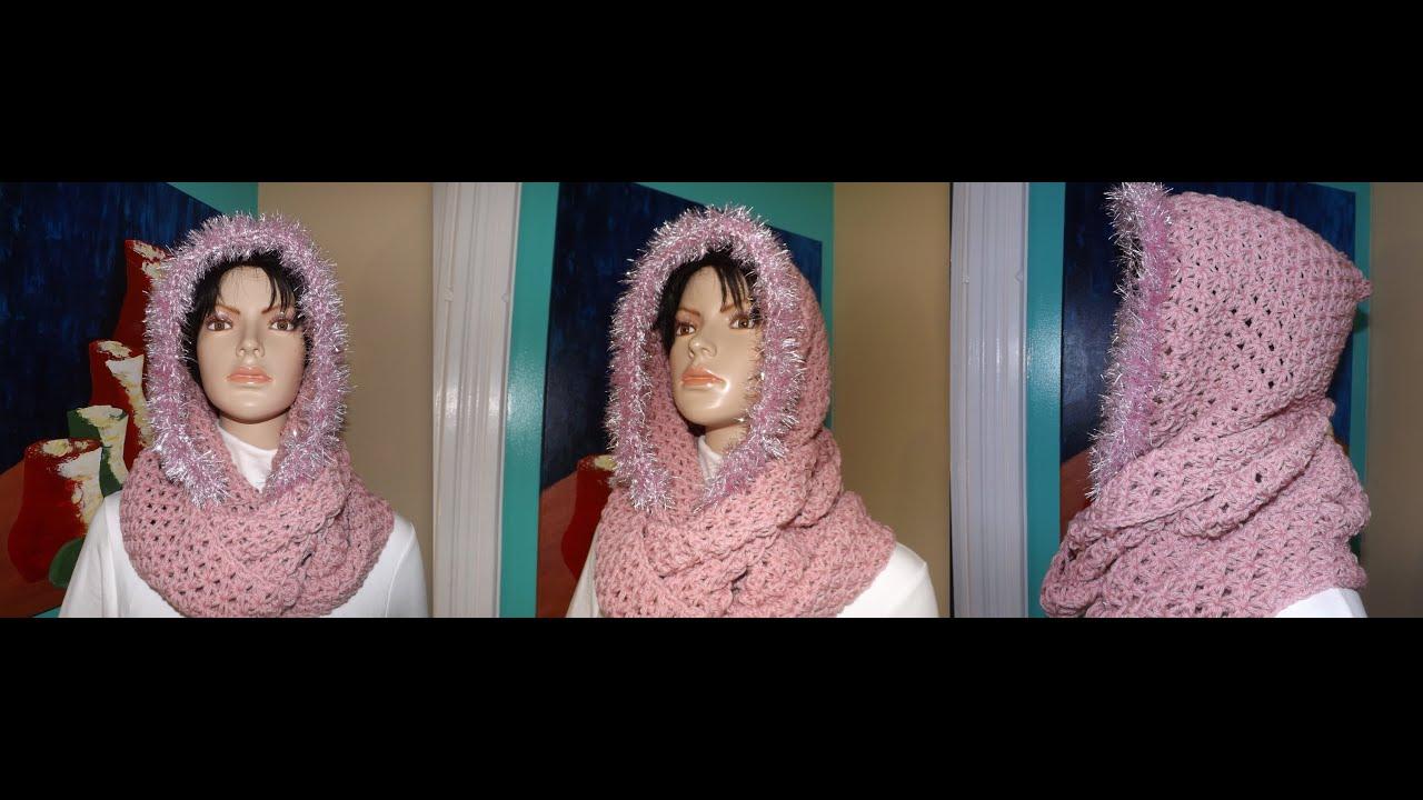 Crochet bufanda circular con capucha - con Ruby Stedman - YouTube