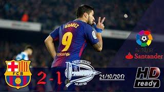 Barcelona vs alaves 2-1 summary highlights la liga 28/01/2018