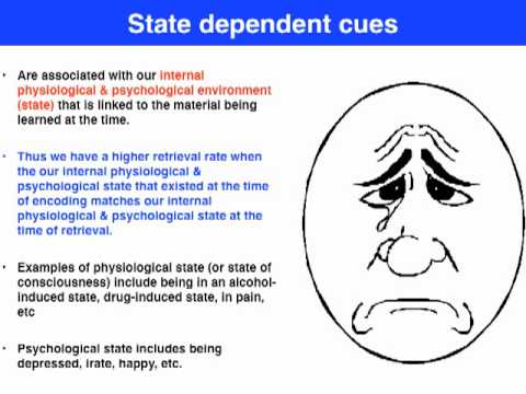 State Dependent Cues Vce Psychology Youtube