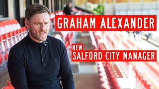 Graham Alexander speaks for the first time as Salford City manager!