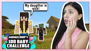 MY DAUGTHER WAS ATTACKED BY A ZOMBIE! - Minecraft: 100 Baby Challenge - EP 12