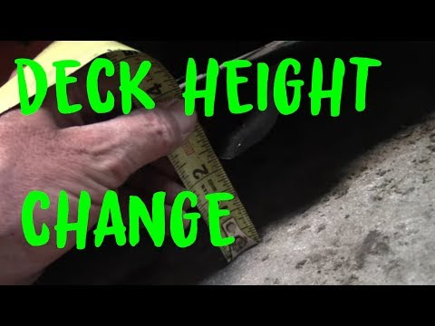 Scag Tiger Cat Deck Height and Baffle adjustments - YouTube