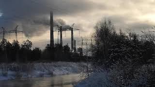 Рефтинский. Сброс канала блоков 500 МВт ГРЭС.