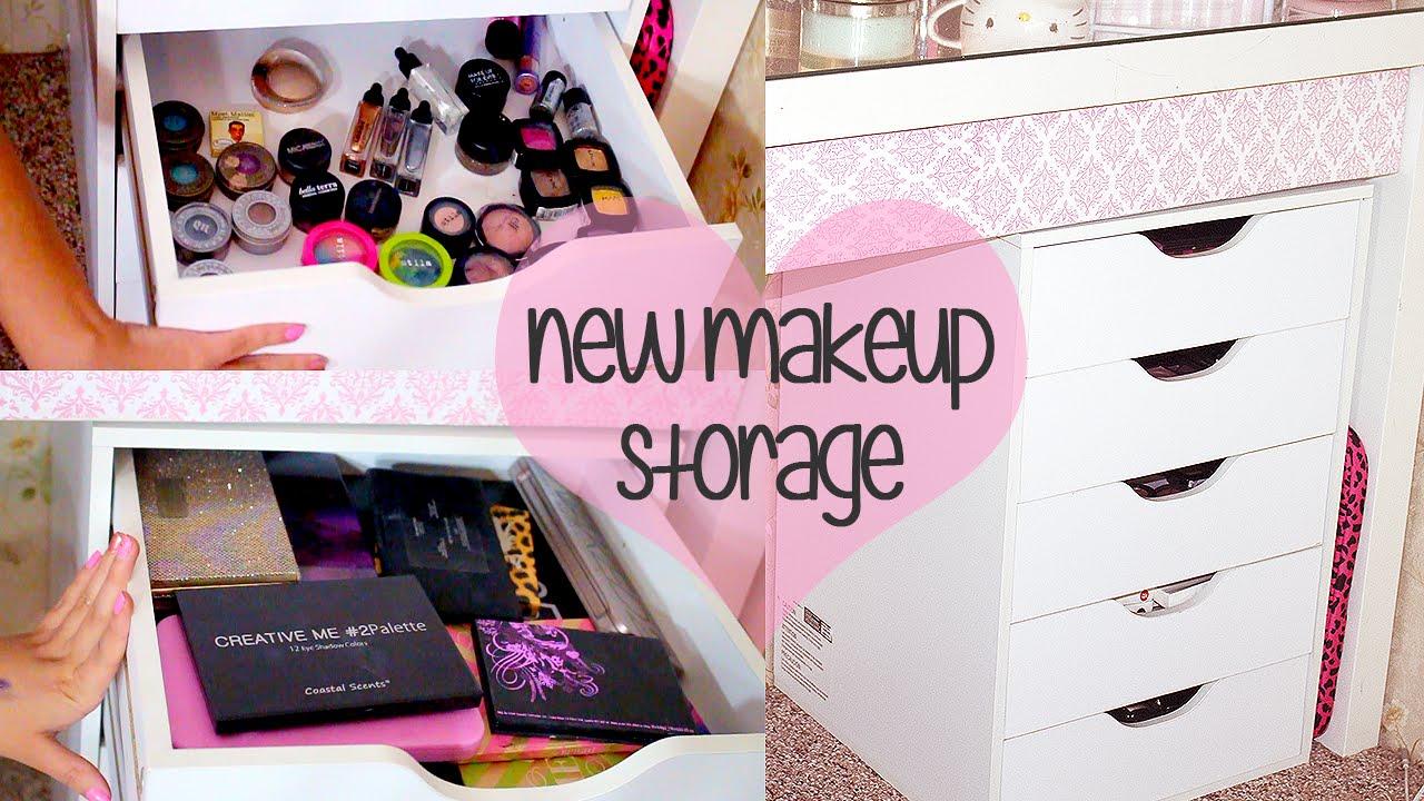 New Makeup Storage  Organization  Ikea Alex Drawer Unit