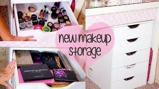 New Makeup Storage & Organization | Ikea Alex Drawer Unit DUPE! Recollections 5 Drawer Storage