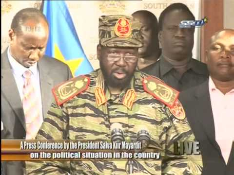 President Salva Kiir announced foil a coup attempt led by Riek Machar