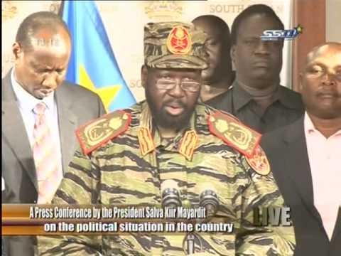 President Salva Kiir announced foil a coup attempt led by Riek Machar
