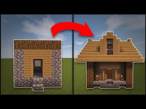 Minecraft How To Remodel A Village Small House Youtube
