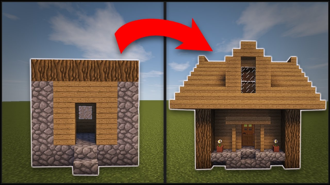 Minecraft how to remodel a village small house youtube for How to remodel home