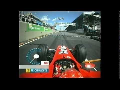 2002 Brazilian Grand Prix onboard start and 5 laps