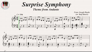 Surprise Symphony (Theme from Andante) - Franz Joseph Haydn, Piano